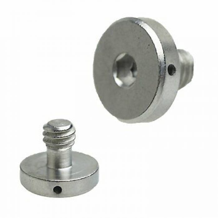 "Camera Tripod Monopod Quick Release Plate D Ring 1//4/""-20 Hex Head Screw UK"