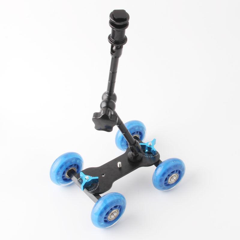 "Rolling Track Slider Dolly Car Skater + 11"" Magic Arm For DSLR Camera Rig |  UK Camera Equipment"