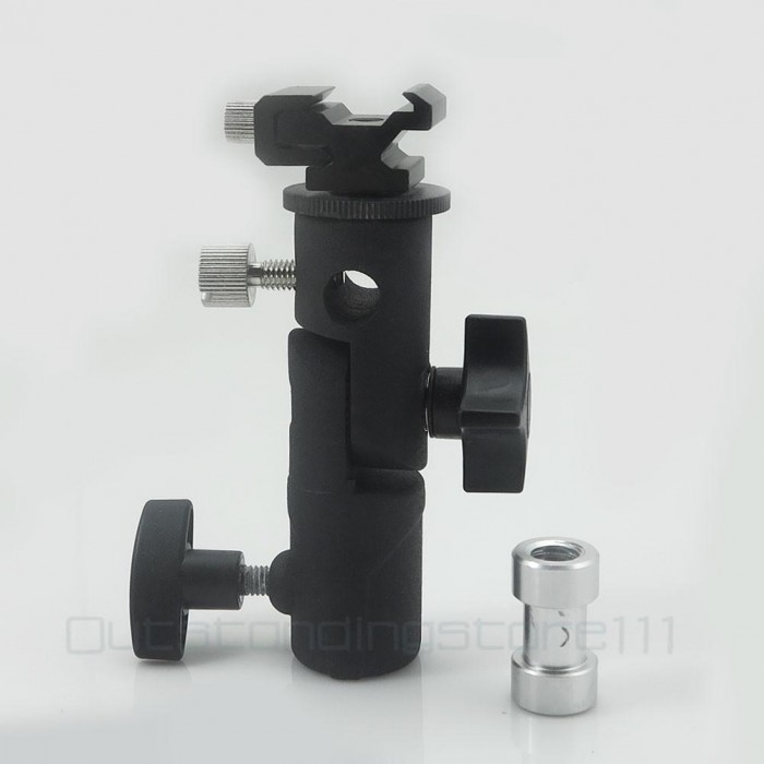 """2x Flash Hot Shoe Mount Adapter to 1//4"""" Thread for Studio Light Tripod Stand;UK"""