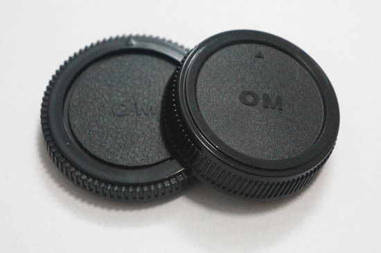 Body And Rear Lens Caps For Olympus Om Mount Uk Camera