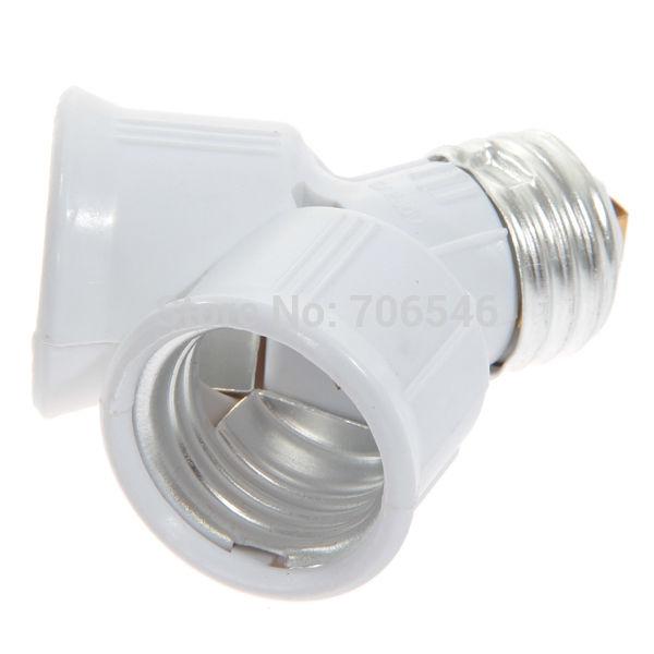 E27 To 2x E27 2 Into 1 Edison Screw Light Bulb Lamp Holder Adaptor