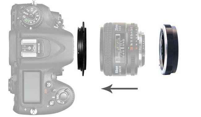 Adaptador de Lente 55mm Macro inverso /& Protección Filtro Anillo Sony Minolta AF un montaje