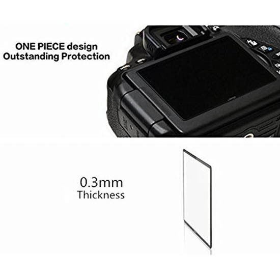 LARMOR by GGS Self-Adhesive Optical Glass LCD Screen Protector for NIKON D3100