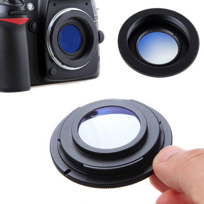 Cámara SLR Anillo Adaptador Con Vidrio M42 lente Nikon AI F Montaje SLR//D Enfoque Infinito